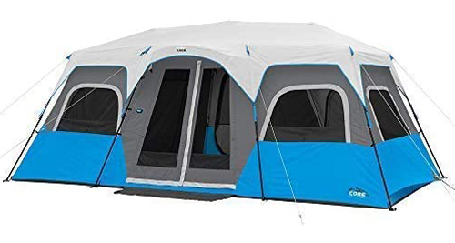 Core 12 Person Lighted Instant Cabin Tent