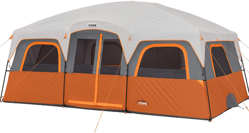 Core 12 Person Straight Wall Cabin Tent