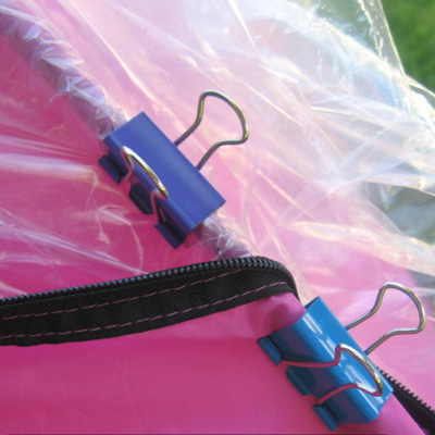 Camping Hack - Binder Clips for Tent