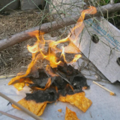 Camping Hack - Doritos For Starting a Fire