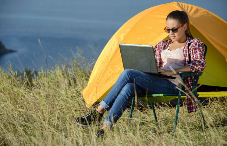 Working While Camping